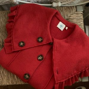 ANTHRO Red Wool Sweater Coat
